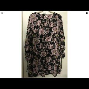 H&M NWOT Floral Print Dress, Size 14